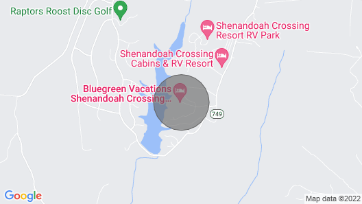 Shenandoah Crossing Resort With Acres of Wilderness Map