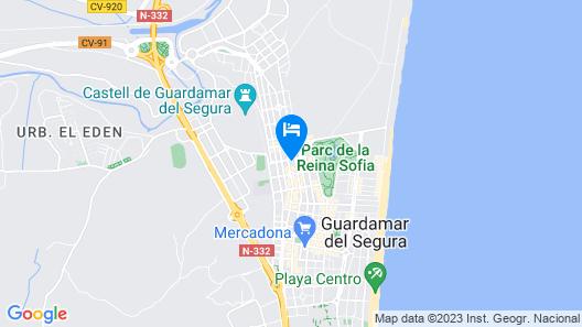 Holiday apartments of your dreams in Guardamar del Segura Map
