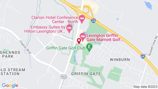 Lexington Griffin Gate Marriott Golf Resort & Spa Map