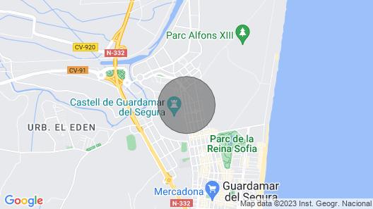 Apartamento 2 D Guardamar Map