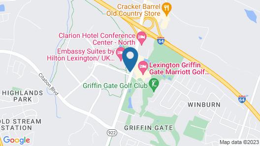 Embassy Suites by Hilton Lexington/UK Coldstream Map