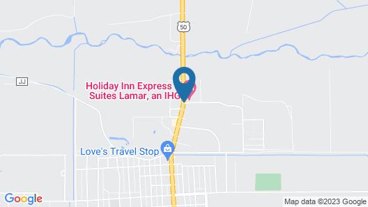 Holiday Inn Express Hotel & Suites LAMAR, an IHG Hotel Map