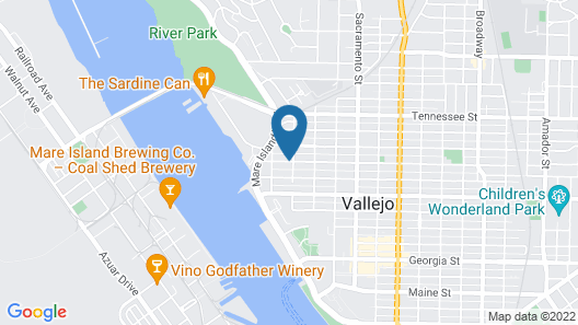 Boutique Bungalow 2 by Waterfront, Walk to Vallejo Ferry to SF and Winetrain Map
