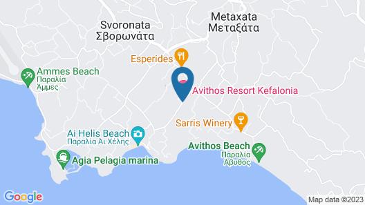Avithos Resort Apartments Hotel Map