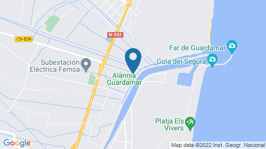 Alannia Guardamar Resort Map