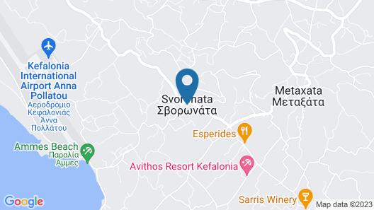 Villas Kefalonia Map