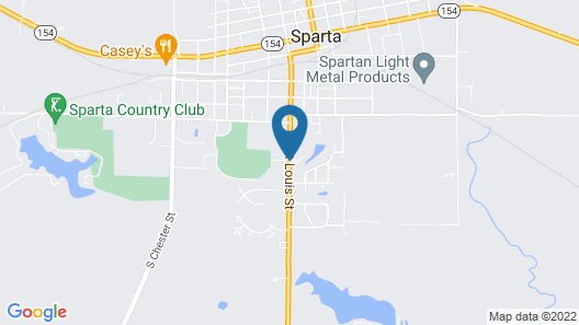 Sparta Motel Map