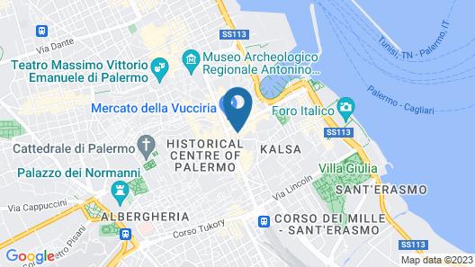 Grand Hotel Piazza Borsa Map