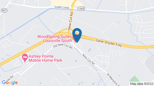 WoodSpring Suites Louisville South Map