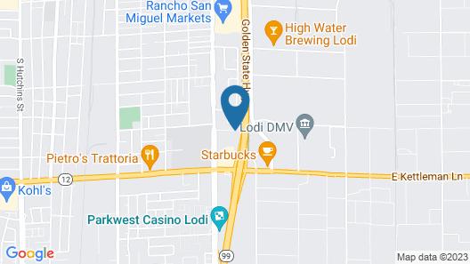 Motel 6 Lodi, CA Map
