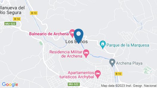 Balneario de Archena - Hotel Termas Map