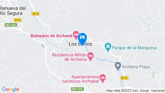 Balneario de Archena - Hotel Levante Map