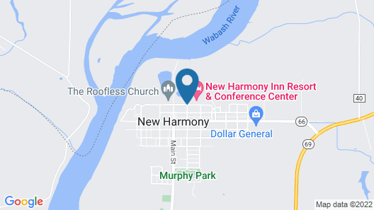 New Harmony Inn Resort and Conference Center Map