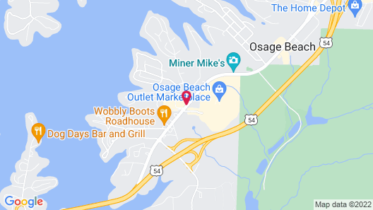 Holiday Inn Express Osage Beach - Lake Of The Ozarks Map