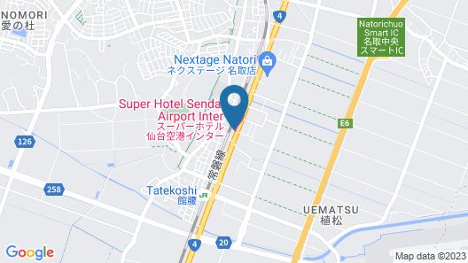 Super Hotel Sendai Airport Inter Map
