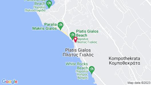 White Rocks Hotel Kefalonia Map
