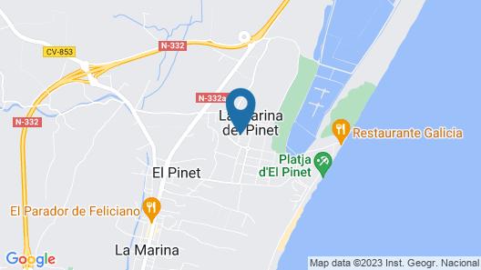2 Bedroom Accommodation in El Pinet Map