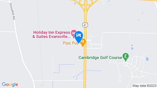 SureStay Plus Hotel by Best Western Evansville Map