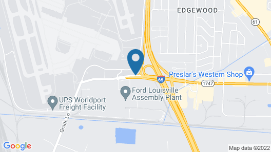 Days Inn by Wyndham Louisville Airport Fair and Expo Center Map