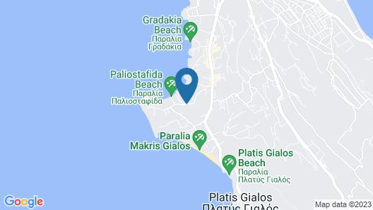 Paliostafida Beach Hotel Map