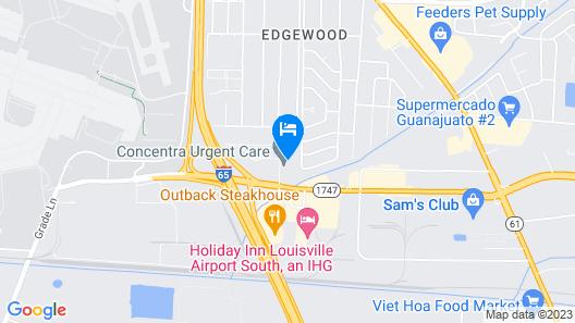 Motel 6 Louisville, KY - Airport - Fair Expo Map