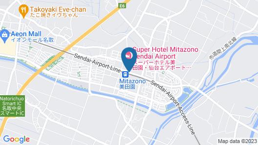 Super Hotel Mitazono-Sendai Airport Map
