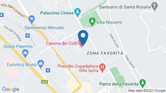 Hotel Casena Dei Colli Map