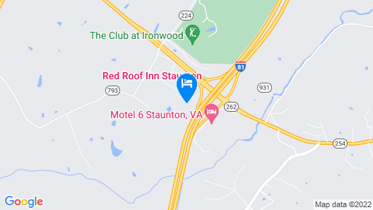 Red Roof Inn Staunton Map