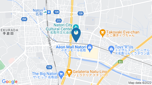 Hotel Route-Inn Natori Map