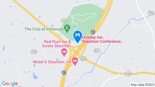 Holiday Inn Staunton Conference Center, an IHG Hotel Map