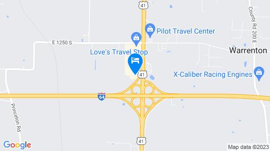 Baymont by Wyndham Evansville North/Haubstadt Map