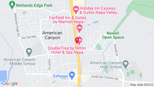 DoubleTree by Hilton Hotel & Spa Napa Valley American Canyon Map