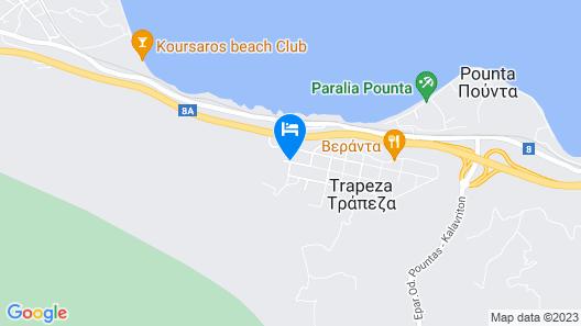 Stavento - Villas Trapeza & Voura Map