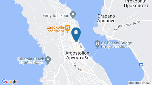 Mouikis Hotel Kefalonia Map