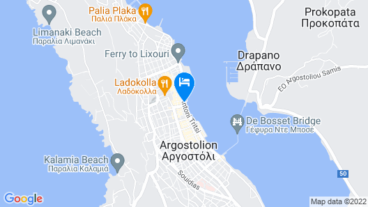 Argostoli Marina Suites Map