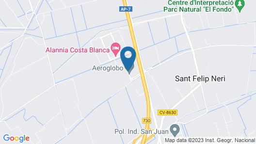 Alannia Costa Blanca Resort Map