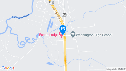 Econo Lodge Princess Anne Map
