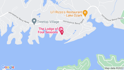 Lodge Of Four Seasons Golf Resort, Marina & Spa Map