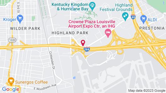 Rodeway Inn Louisville Map