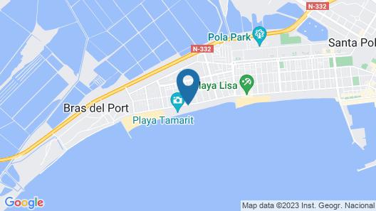 Asunto Hiekalla, Playa Lisa, Wifi: n Kanssa. Ihanteelliset Perheet Map