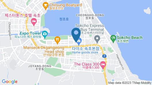 Sokcho Marina Bay hotel Map