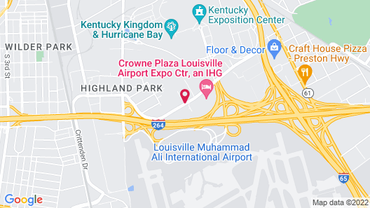 Hampton Inn Louisville-Arpt-Fair/Expo Ctr Map