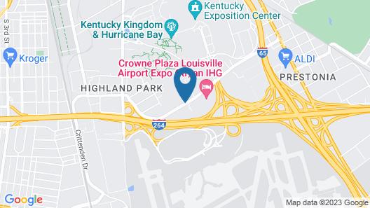 Hampton Inn Louisville-Arpt-Fair/Expo Ctr Map