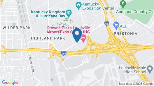 Courtyard by Marriott Louisville Airport Map