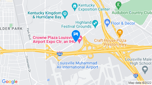 Crowne Plaza Louisville Airport Expo Center, an IHG Hotel Map