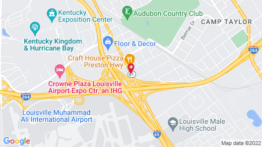 SureStay Plus by Best Western Louisville Airport Expo Map