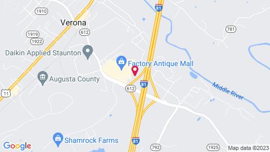 Quality Inn Verona - Staunton North Map