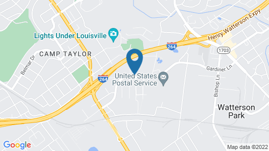 Candlewood Suites Louisville Airport, an IHG Hotel Map