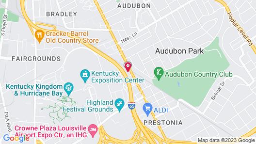 WoodSpring Suites Louisville Airport Map