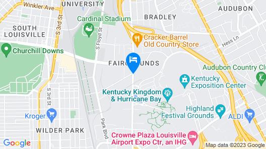 Ramada by Wyndham Louisville Expo Center Map